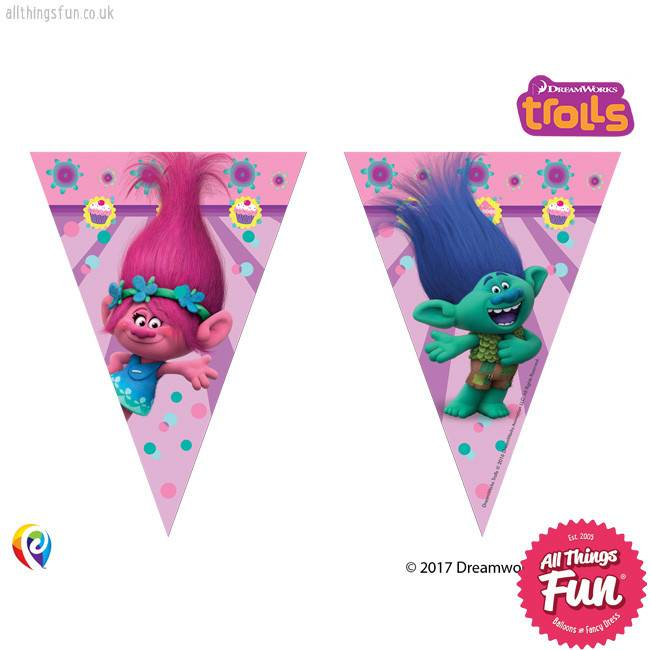 Trolls - Banner - Triangle Flag (9)