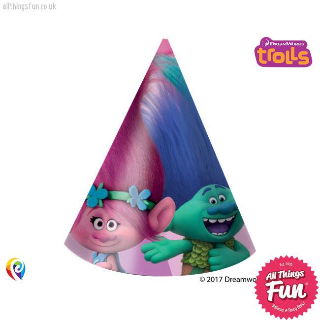 Trolls - Hats Party 6Ct