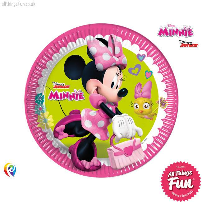 Disney Minnie Mouse - Party Paper Plates (23cm) 8Ct