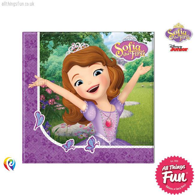 Sofia The First - Party Napkins 20Ct