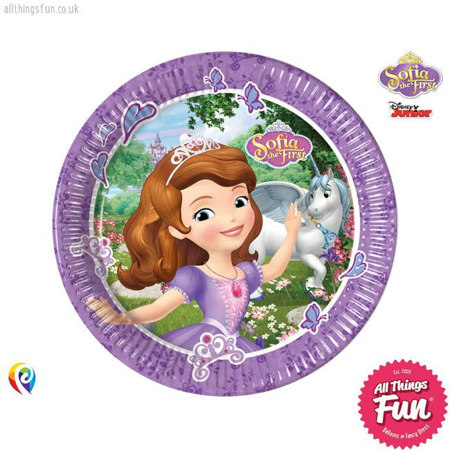 Sofia The First - Party Paper Plates (23cm)