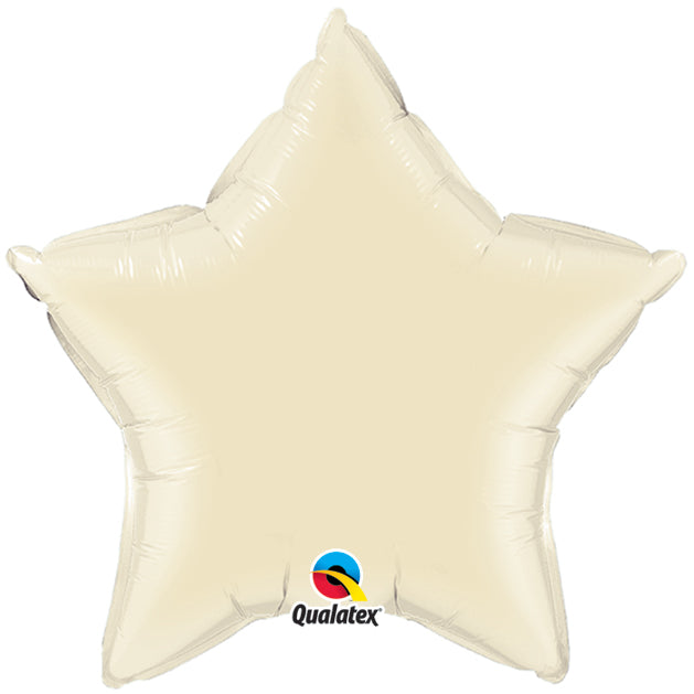 Plain Foil - Star - Pearl Ivory 20 inch