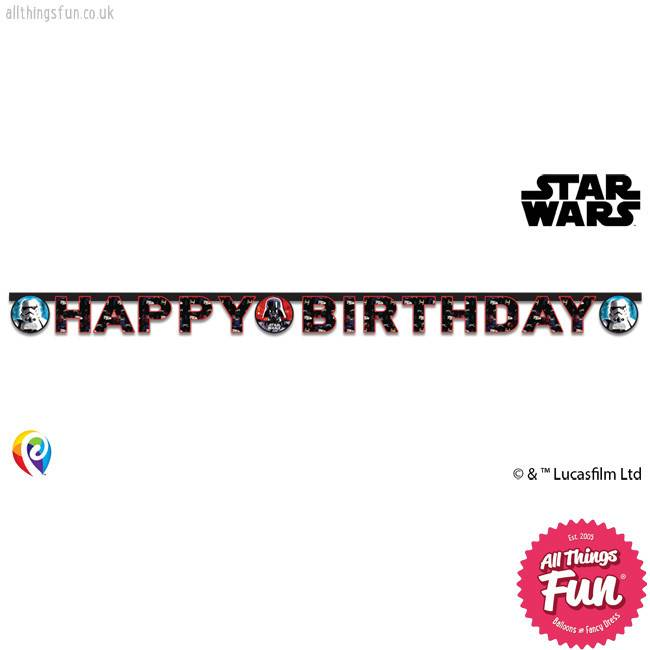 Star Wars - Happy Birthday Banner