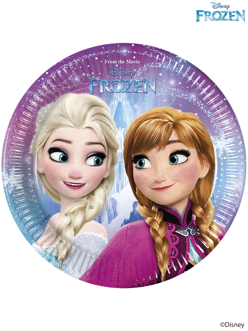Disney Frozen - Party Paper Plates (20cm)