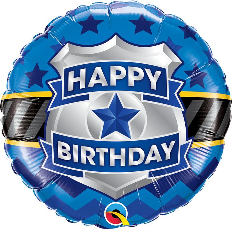 NS Printed Foil - 18 inch Round - Birthday Badge