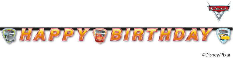 Cars 3 - Banner - Happy Birthday