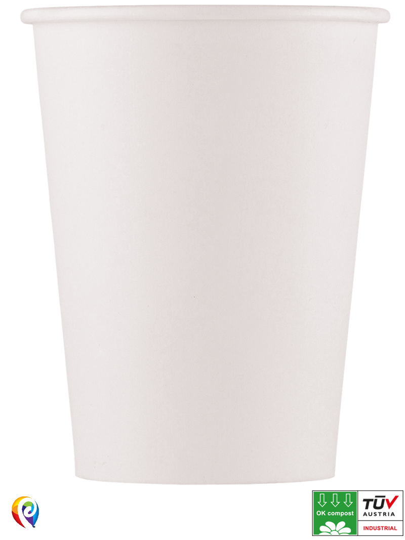 White - Party Paper Cups (Compostable)