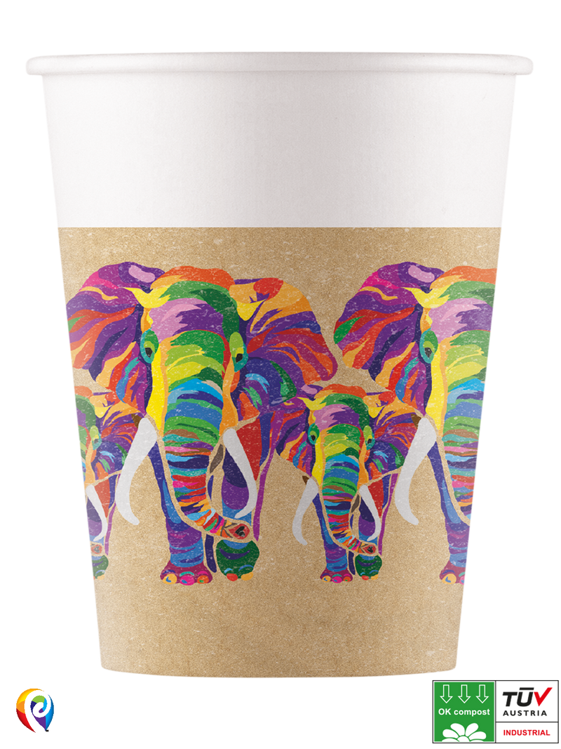 Elephant - Party Paper Cups (Compostable)