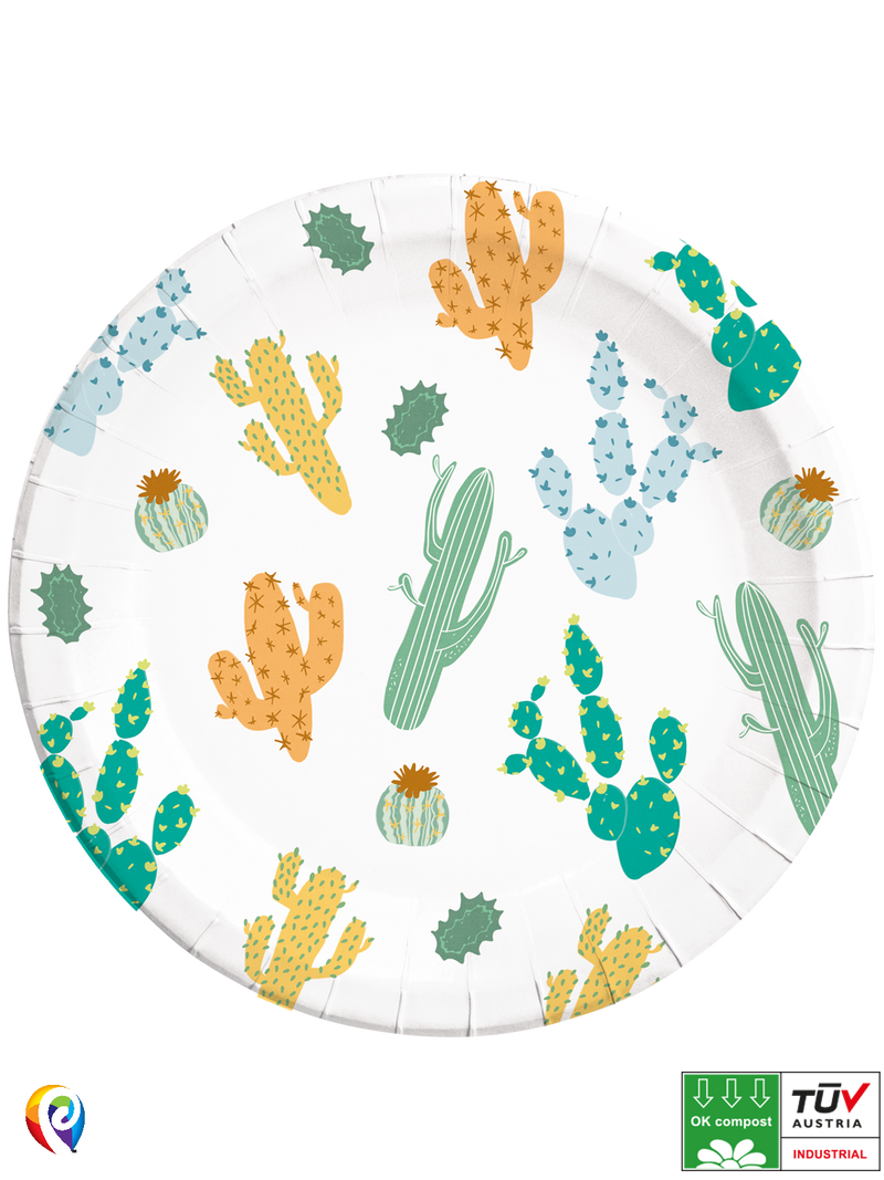 Cacti - Party Paper Plates (Compostable)