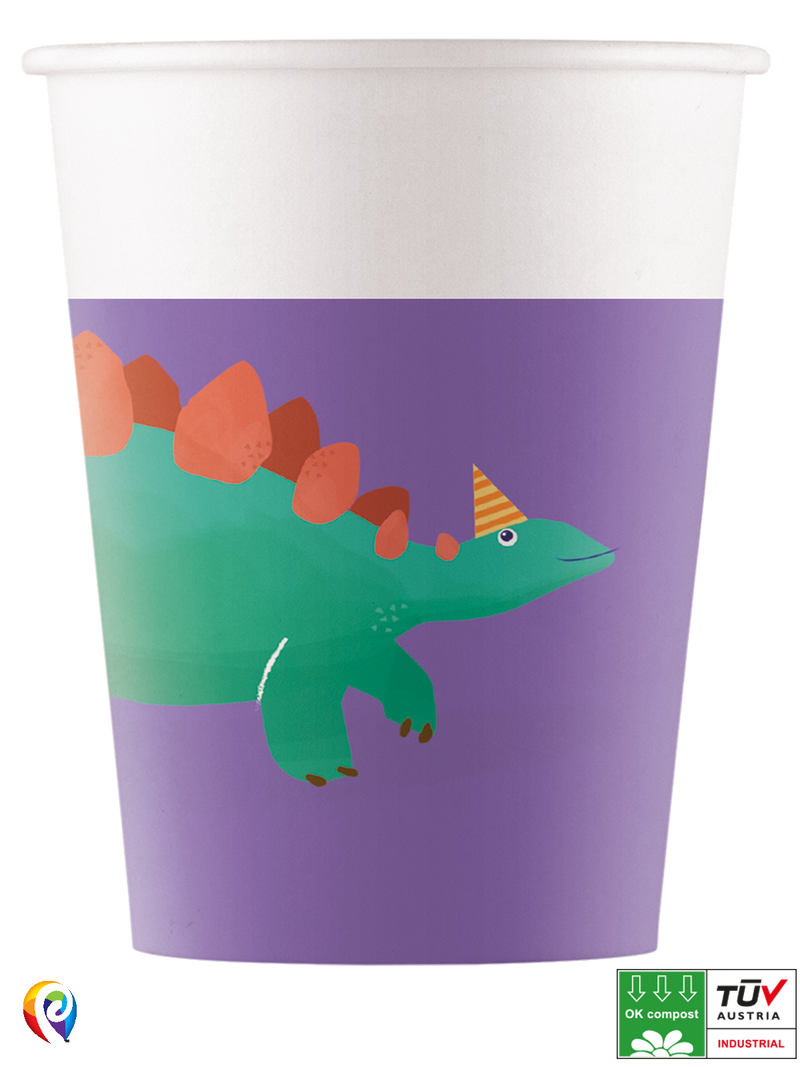 Dinosaur Roar - Party Paper Cups (Compostable)