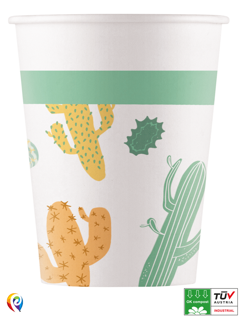 Cacti - Party Paper Cups (Compostable)