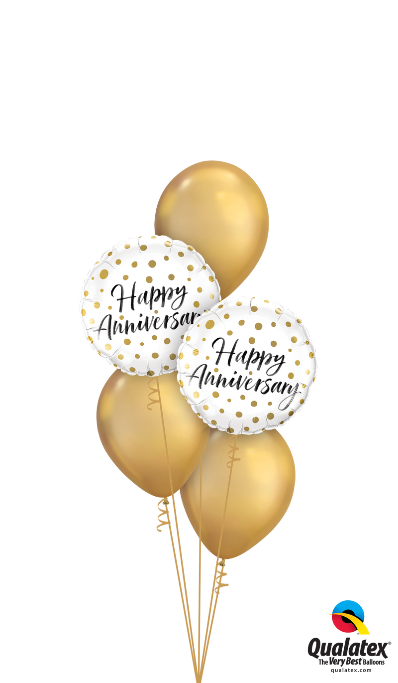 Happy Anniversary Gold Dots Classic