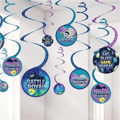 Battle Royale Swirl Decorations