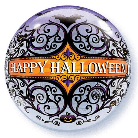 Bubble Balloon - 22 inch - Happy Halloween Gothic