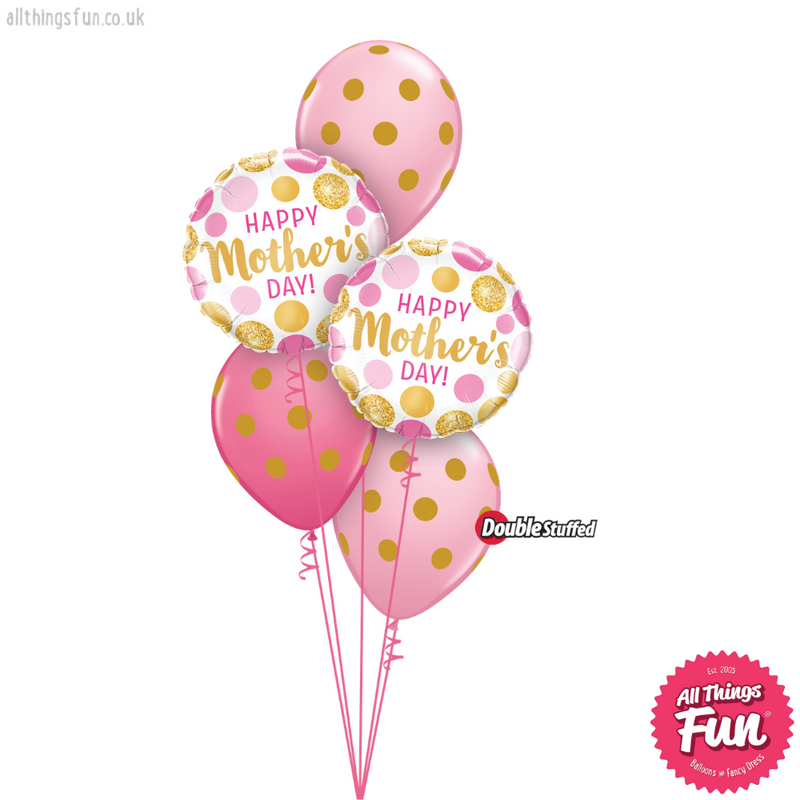 Happy Mothers Day Gold Dots Classic