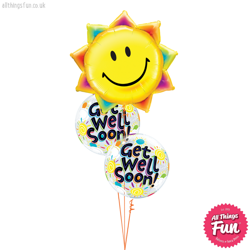 Sunshine Smile Get Well Bubble Bouquet