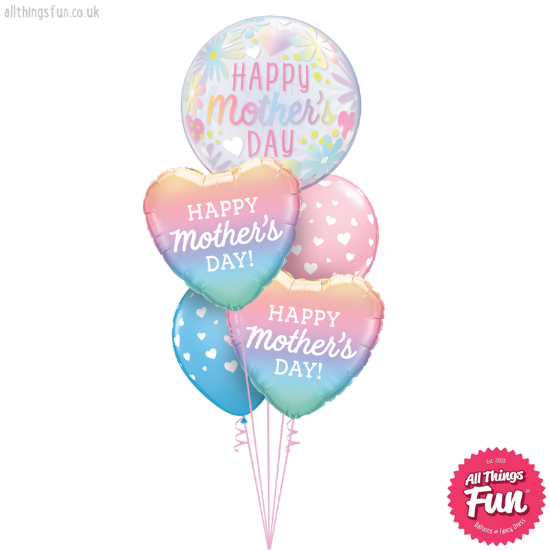 Happy Mother's Day Pastel Ombre Duo Layer