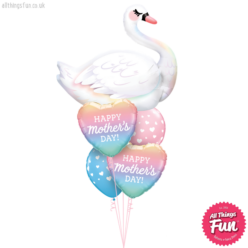 Happy Mother's Day Ombre Swan Duo Layer