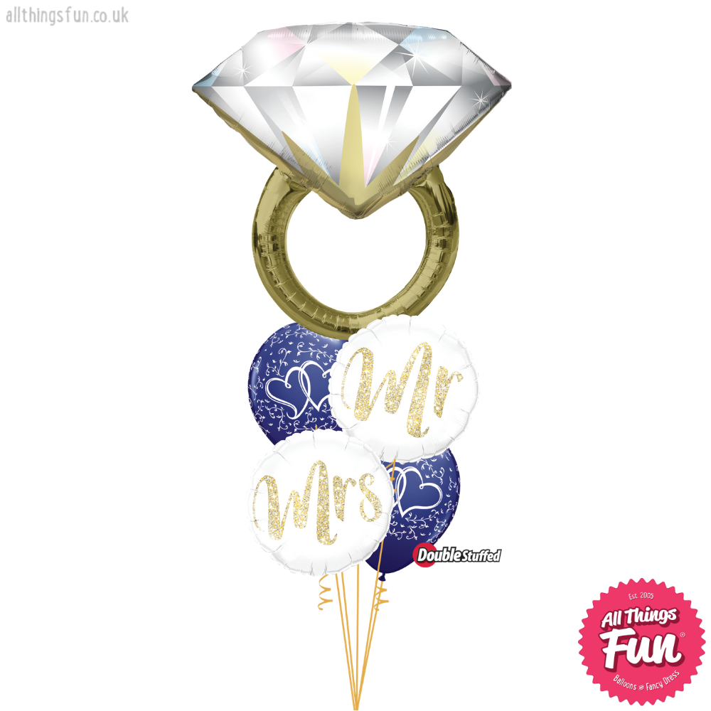 Mr & Mrs Diamond Ring Duo Layer