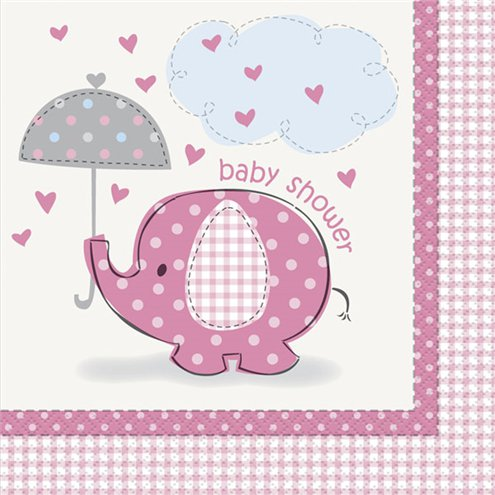 Pink Umbrellaphants Napkins