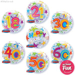 Birthday Stars Bubble Layer (Ages 18 to 60)