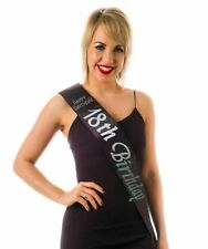 Black 18th Birthday Sash With Diamantes