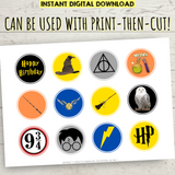 Printable Harry Potter Icons Cupcake Toppers