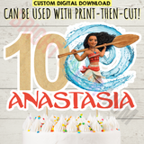 Custom Printable Moana Cake Topper