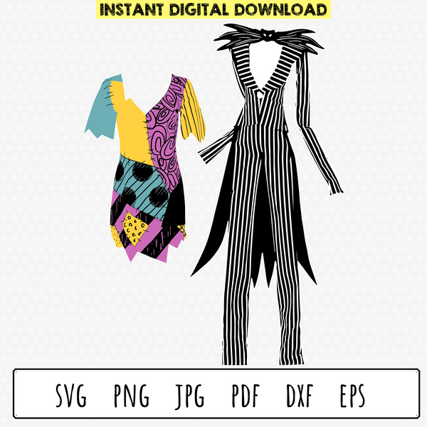 Sally Dress Pattern and Jack Suit SVG