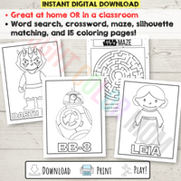 Star Wars Activity Sheets and Coloring Pages for Kids
