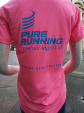 Load image into Gallery viewer, Pure Running Women's Short Sleeve T-Shirt Fluo Pink