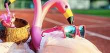Load image into Gallery viewer, Goodr OGS sunglasses Flamingos on a Booze Cruise