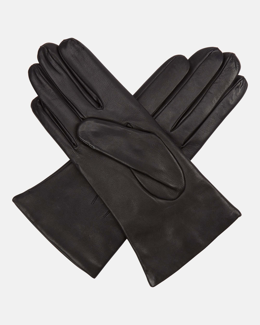 Ladies Leather Short Gloves Black