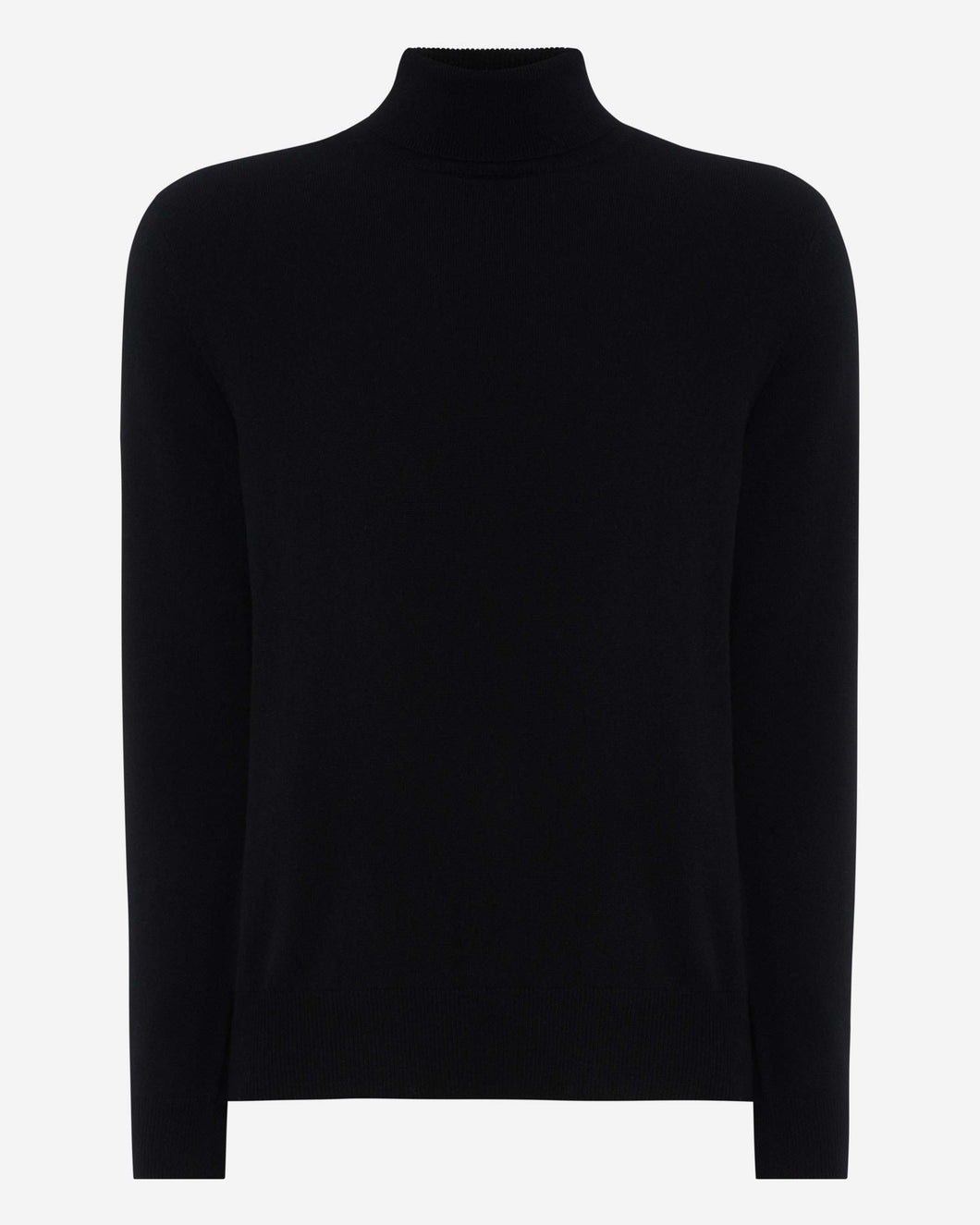 The Trafalgar Polo Neck Cashmere Jumper Black