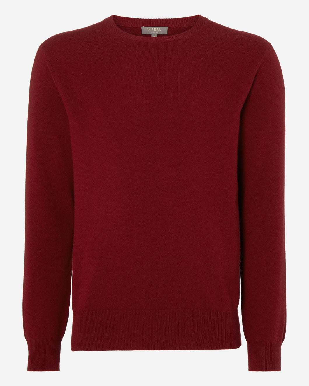 The Oxford Round Neck Cashmere Sweater Enriched Red