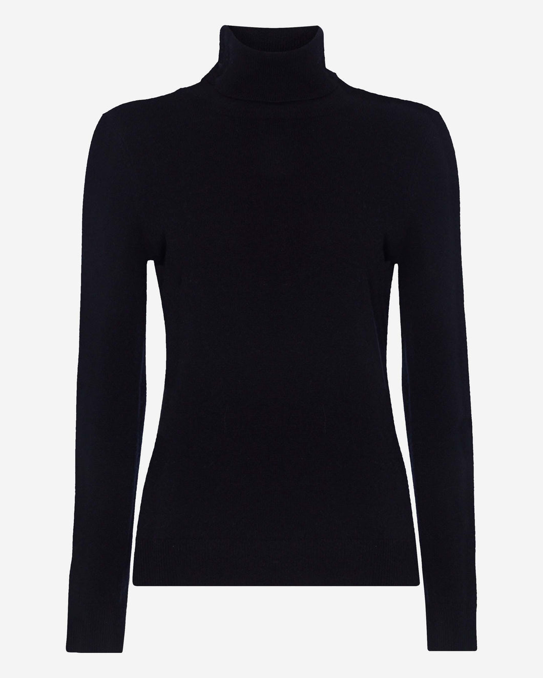 Polo Neck Cashmere Sweater Navy Blue
