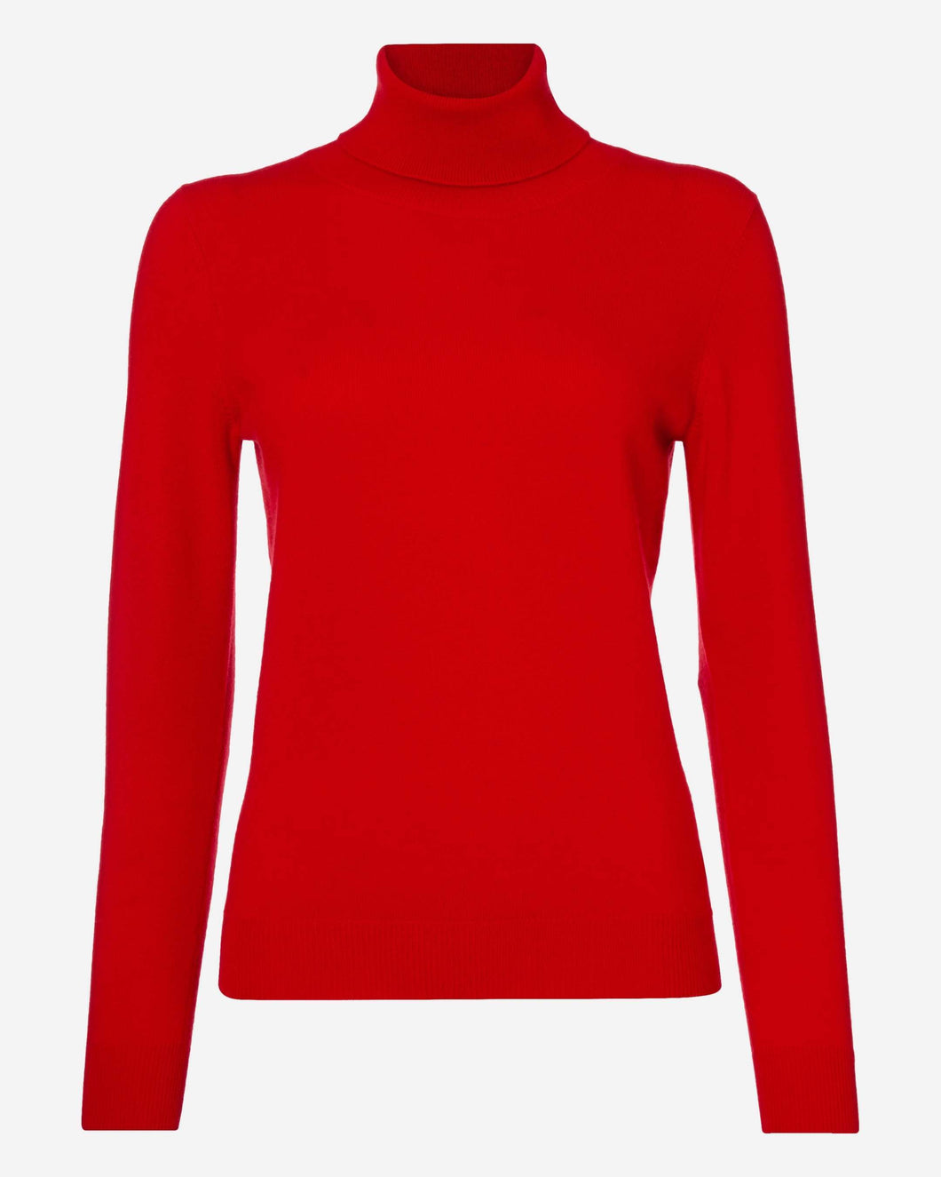 Polo Neck Cashmere Sweater Red