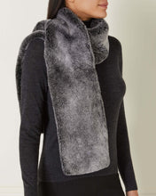 Load image into Gallery viewer, Long Fur Scarf Black + Black Tipped Fur