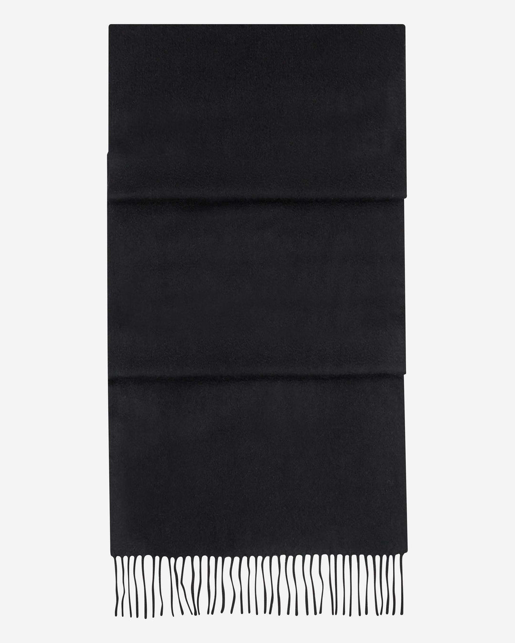 Large Woven Cashmere Scarf Black