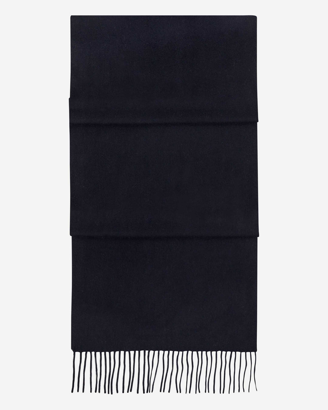 Large Woven Cashmere Scarf Navy Blue