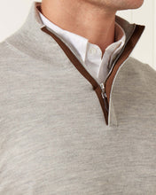 Load image into Gallery viewer, The Regent Fine Gauge Half Zip Sweater Fumo Grey