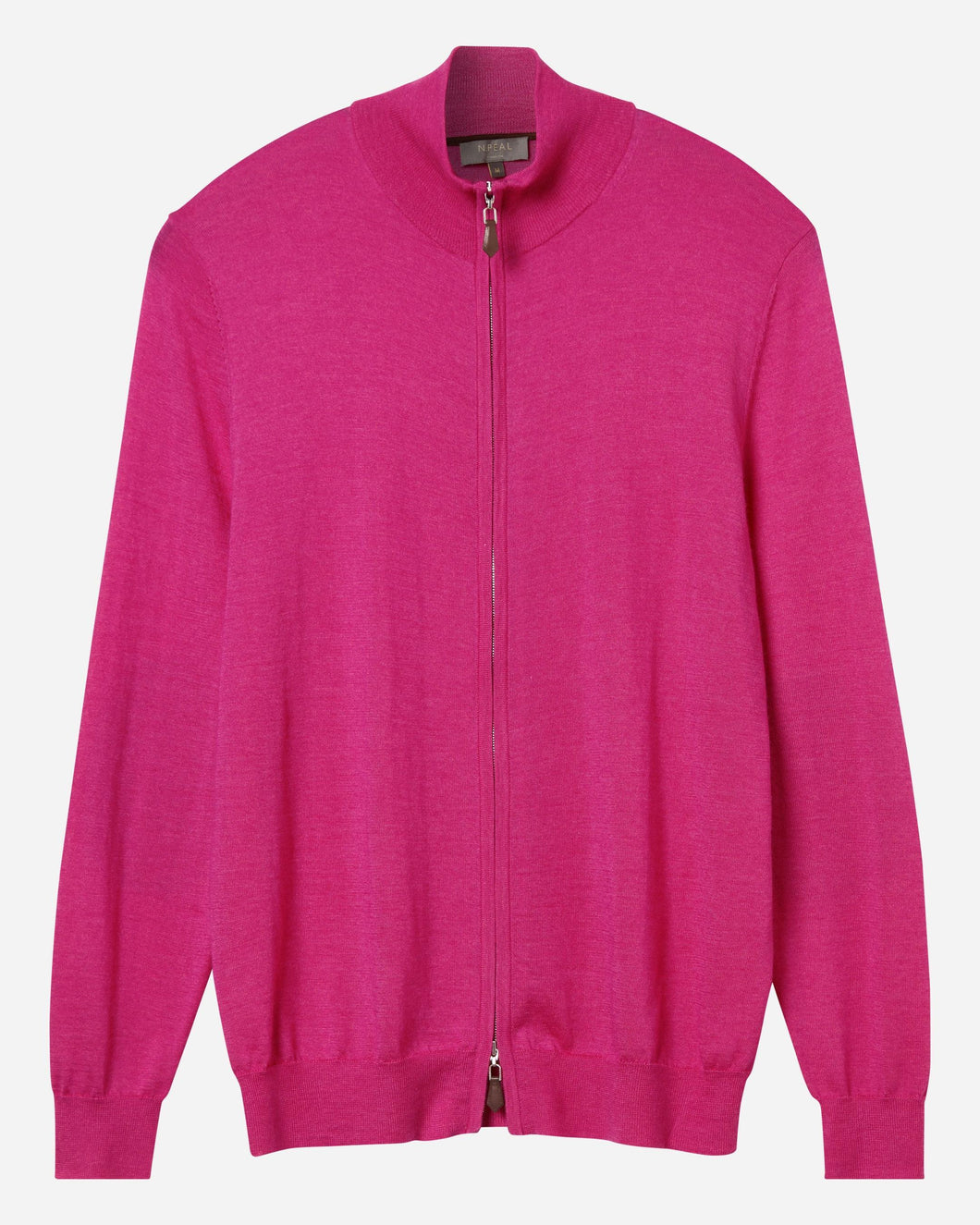 The Hyde Fine Gauge Zip Jumper Purple Pink