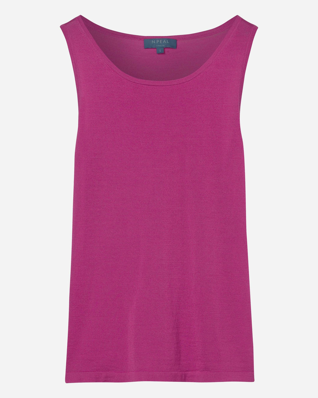 Superfine Cashmere Shell Top Purple Pink