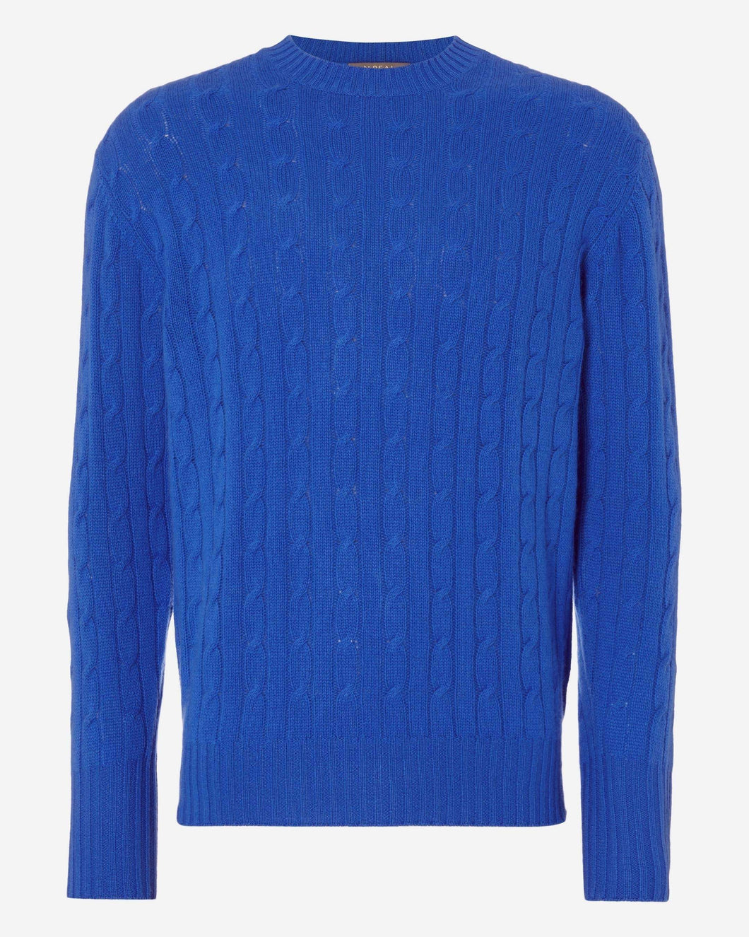The Thames Cable Cashmere Sweater Zephyr Blue