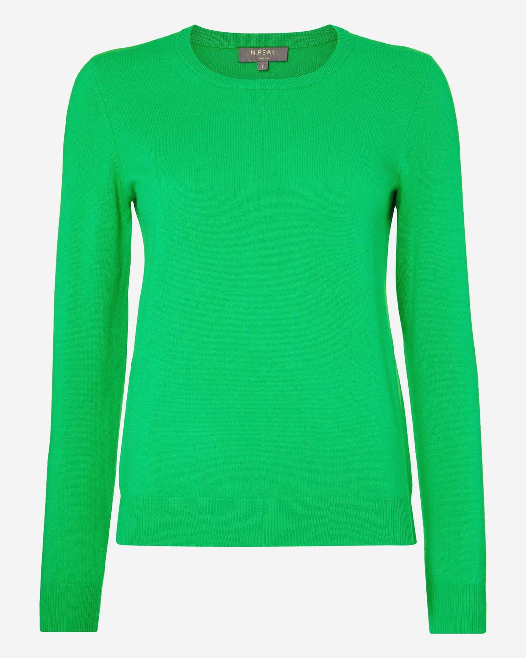Round Neck Cashmere Sweater Spring Green