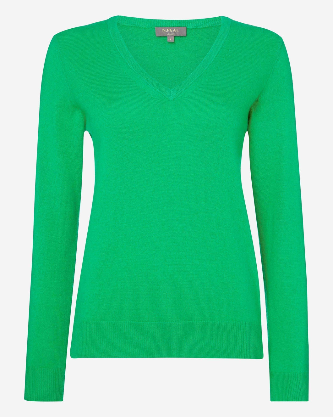 V Neck Cashmere Sweater Spring Green