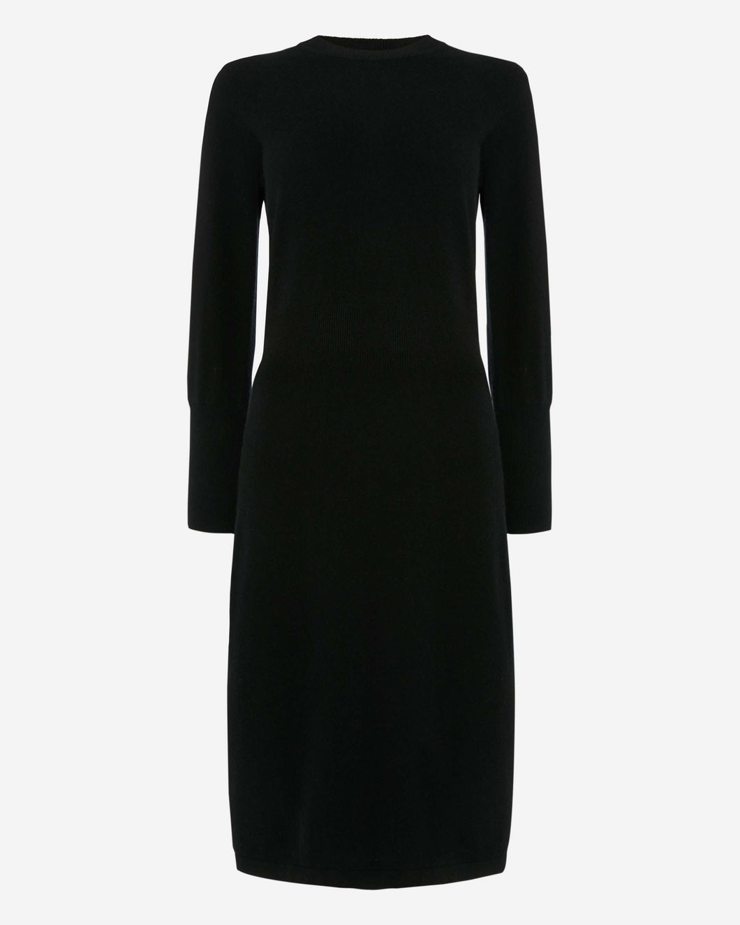 Puff Sleeve Cashmere Dress Black