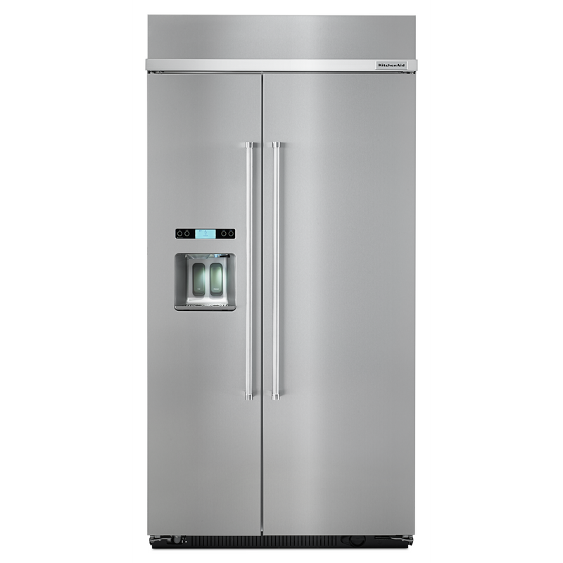 KitchenAid®25.5 cu. ft 42-Inch Width Built-In Side by Side Refrigerator KBSD602ESS