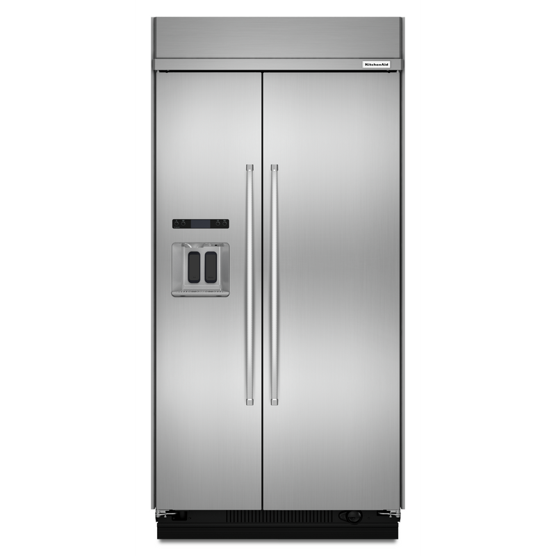 29.5 cu. ft 48-Inch Width Built-In Side by Side Refrigerator with PrintShield™ Finish KBSD608EBS