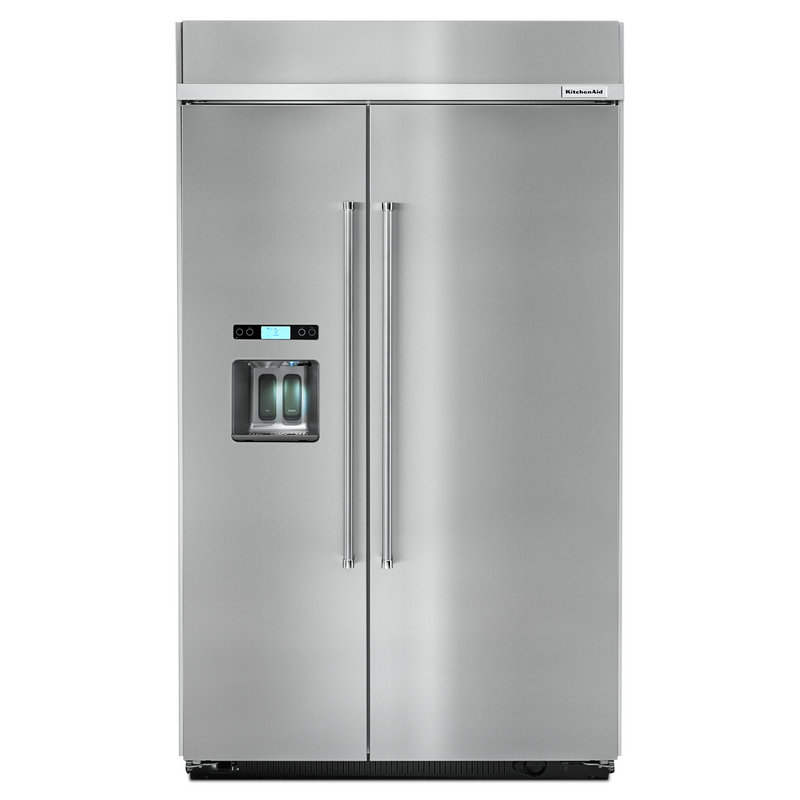 29.5 cu. ft 48-Inch Width Built-In Side by Side Refrigerator KBSD618ESS